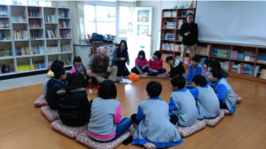Dr. Jackson at Tai-ping Elementary School