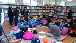 Tai-ping school children writing up p4c inquiry questions