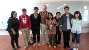 Dr. Jackson at National Chiayi University with undergraduate education students