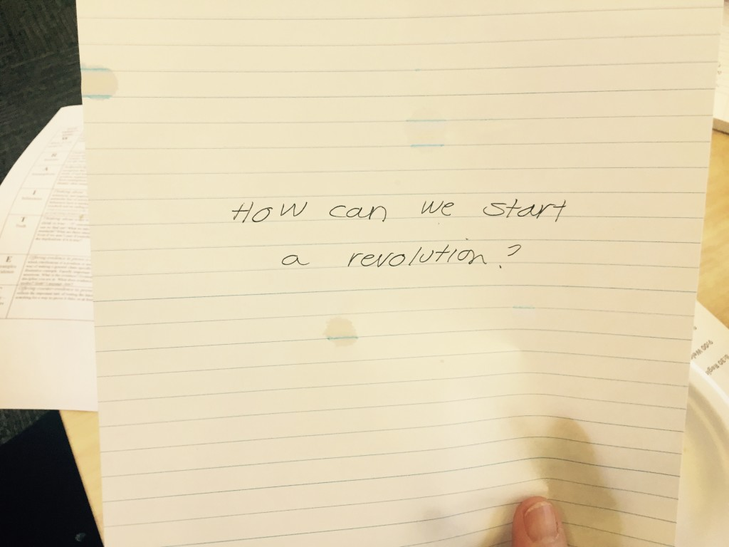 Talking - How can we start a revolution_